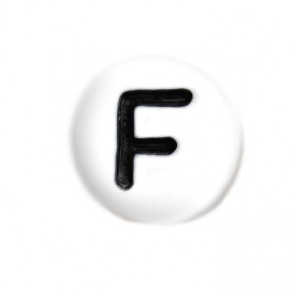 weisse Buchstabenperlen 7 mm F