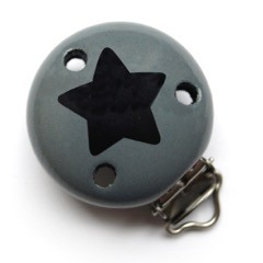 Motivclip II Stern stein/noir