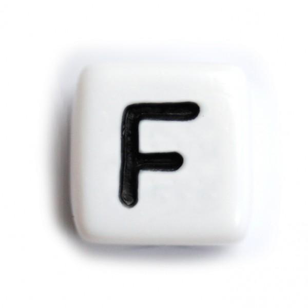 Kunststoffbuchstabenwürfel 10 mm einzeln F