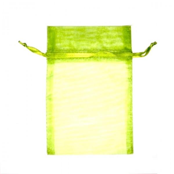 Organzasäckchen 15 x 10 cm apfelgrün