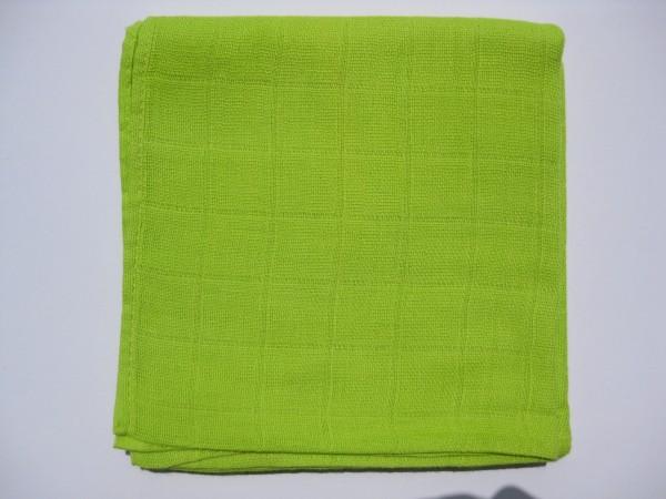 Mulltuch, ca. 70 cm x 70 cm, lemon