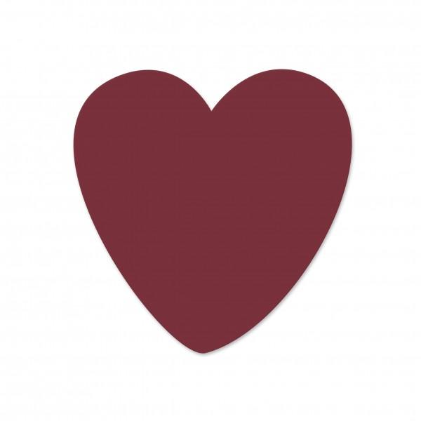 Ausverkauf Motivperle Herz horizontal dunkelrot