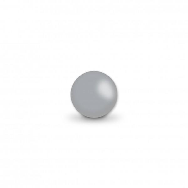 Uniperlen 8 mm hellgrau