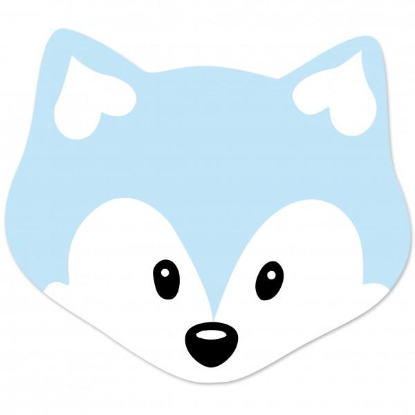 Motivperle Maxi-Fuchs vertikal babyblau