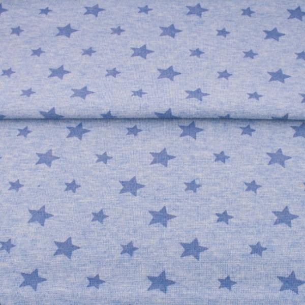 Sale Bündchen Sterne meliert babyblau/hellblau