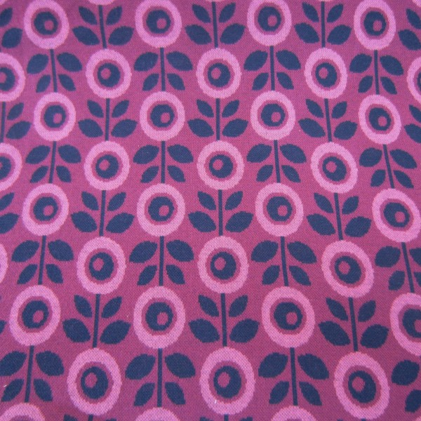 Jaquardjersey Albstoffe Hamburger Liebe Sea Breeze Daisies pink (GOTS) Hamburger Liebe by Albstoffe