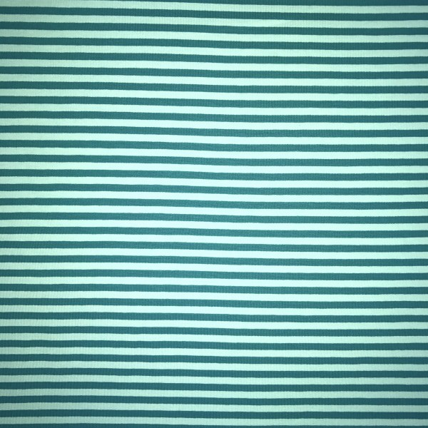 Streifenjersey von Lillestoff mint/türkisgrün