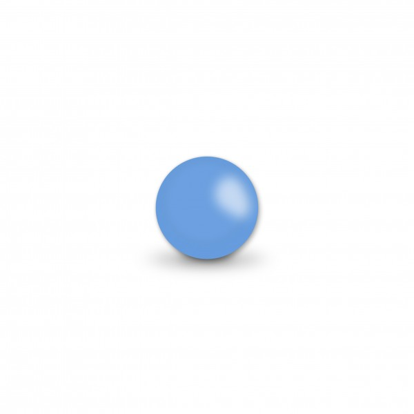 Uniperlen 8 mm hellblau