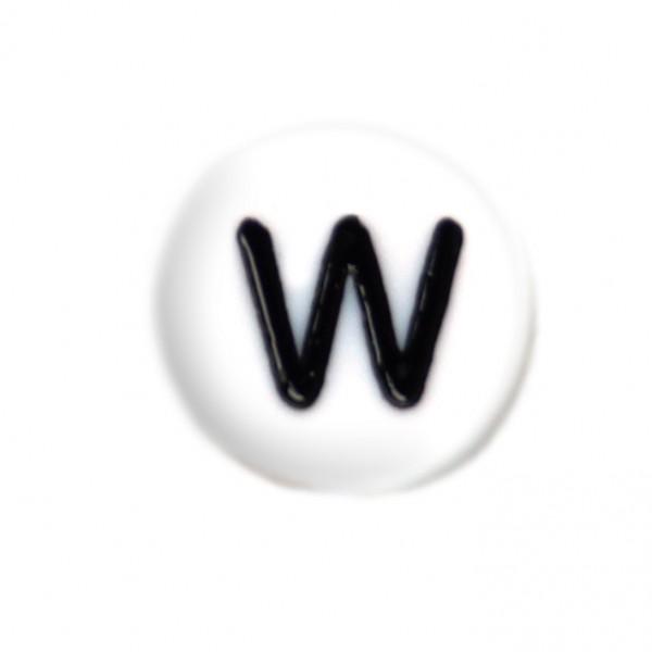 weisse Buchstabenperlen 7 mm W