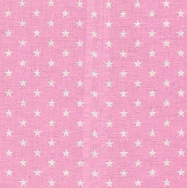 Baumwollstoff Carrie von Swafing, Sterne 1 cm weiß/rosa