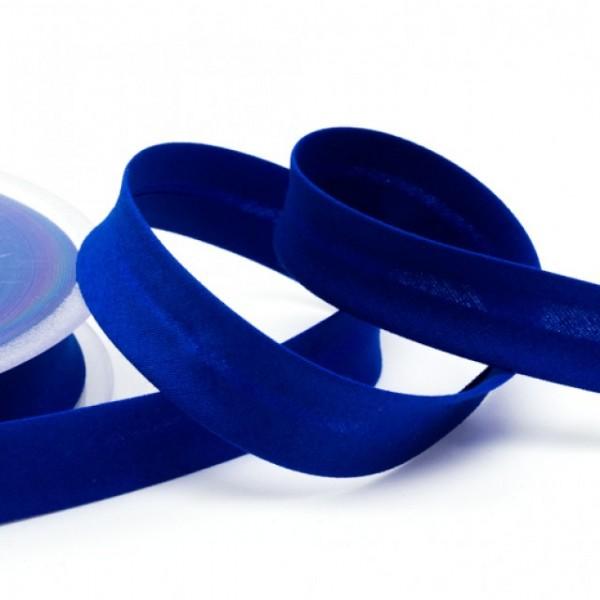Angebot Schrägband elastisches 18mm uni mittelblau