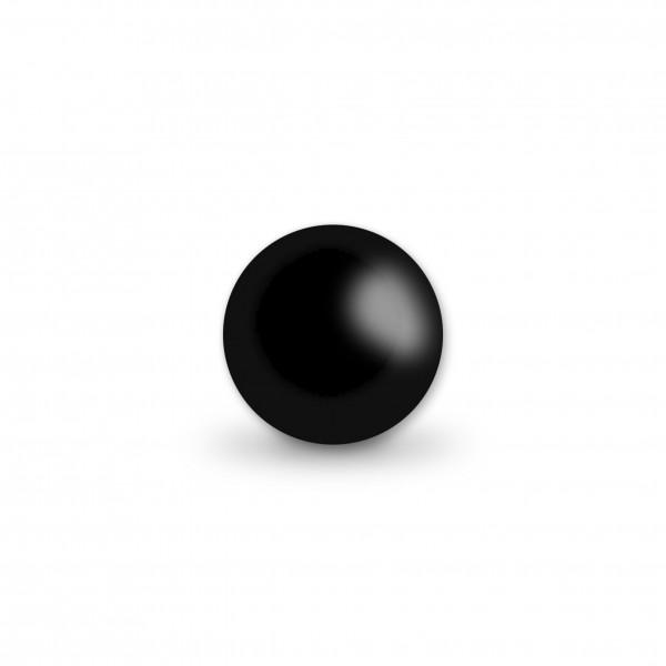 Uniperlen 10 mm schwarz