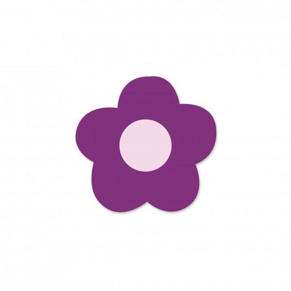Motivperle Mini-Blume horizontal violett/babyrosa
