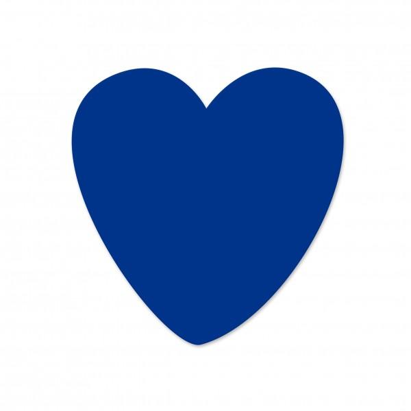 Ausverkauf Motivperle Herz vertikal dunkelblau